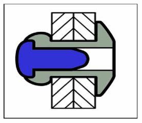 6.4 X 19.5 mm 250 Stück Stahl Stahl H-Power Hochfeste Struktur Blindnieten Fla