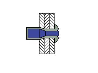 4.0 X 8.0 mm 1000 St/ück Alu Stahl Multigrip Blindnieten Senkkopf Dichtnieten Nieten